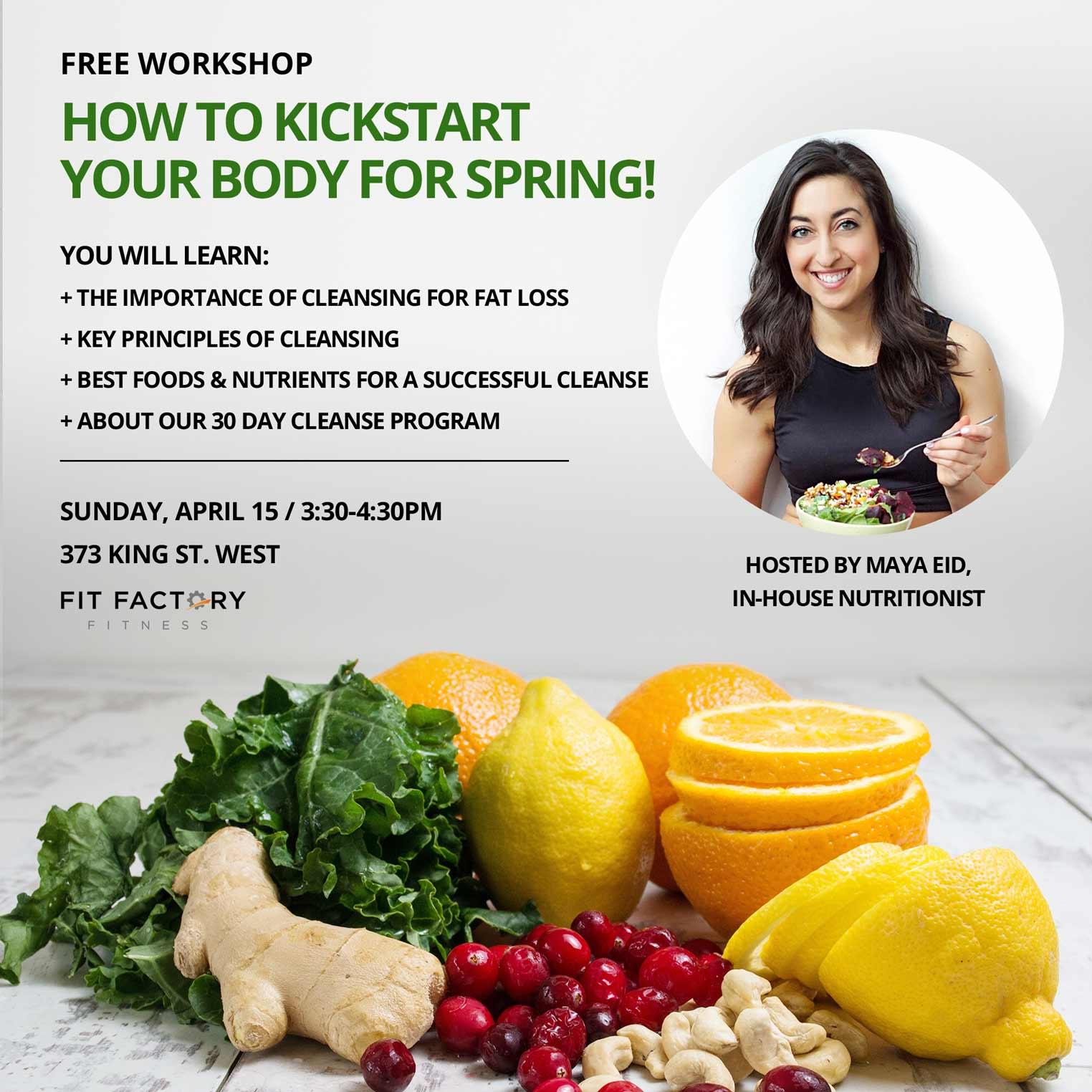 spring clean detox foods