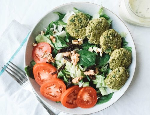 Baked Lentil Falafels with Creamy Tahini Sauce